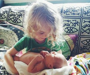 babies, family, and hippie image