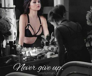 strong, selenagomez, and nevergiveup image