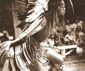 dancing, feathers, and native american image