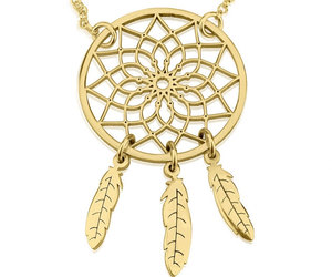 dream catcher, etsy, and gold necklace image
