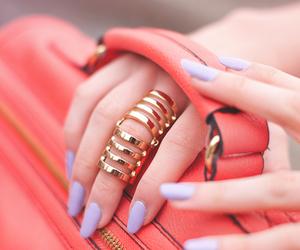 nails, fashion, and ring image