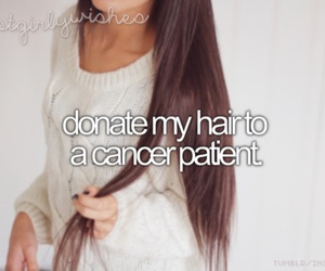 brunette, cancer, and hair image