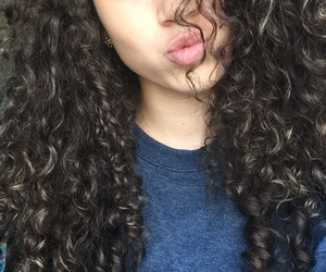 curly, hair, and 💇 image