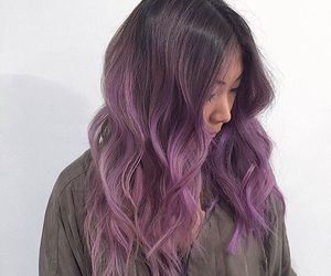 colored, girl, and purple image