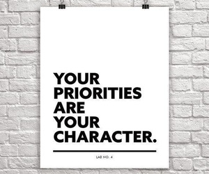 character, priorities, and quote image