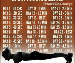 plank, workout, and challenge image
