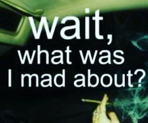 mad, smoke, and weed image