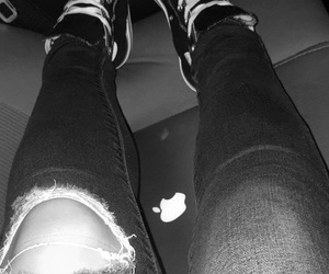 black, high tops, and laptop image