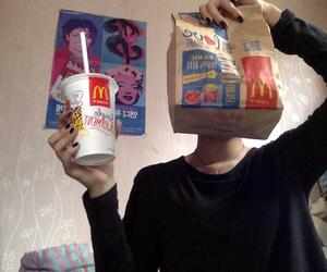 food, McDonalds, and grunge image