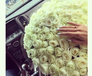beauty, flowers, and nails image