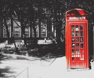 london, telephone, and red telephone image