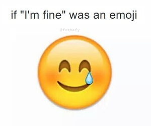 emoji, fine, and smile image