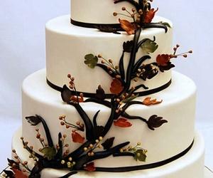 cake, autumn, and dessert image