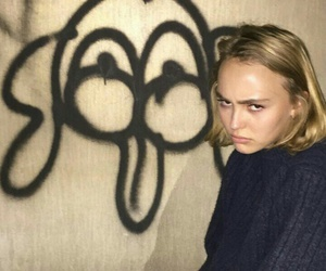 angry, blue, and lily rose depp image