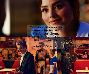 dw, clara oswald, and 12th doctor image
