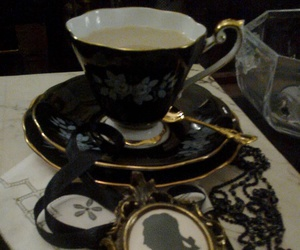 black, pottery, and cup image