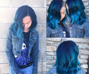 cabelo, colorfull, and hair image