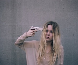 girl, gun, and suicide image