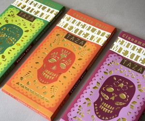 chocolate, graphic design, and skull image