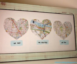 love, map, and diy image