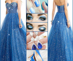 earrings, partydress, and shoes image