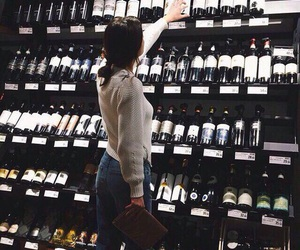 girl, wine, and alcohol image
