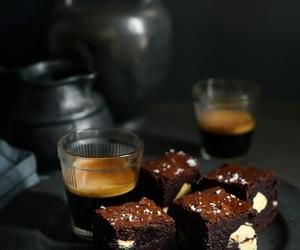 brownies, sea salt, and white chocolate image