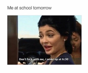 school, funny, and kylie jenner image