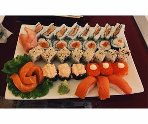 delicious, mozambique, and sushi image