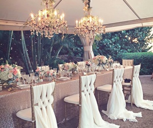 wedding, luxury, and decoration image