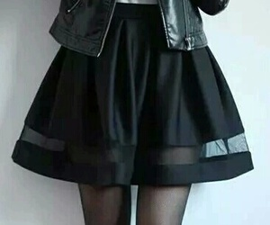 black, fashion, and skirt image
