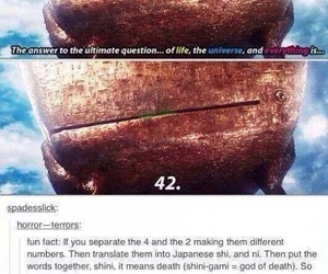 funny, death, and 42 image