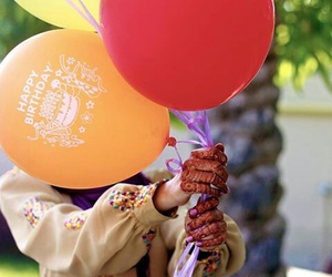 baloons, dp, and henna image