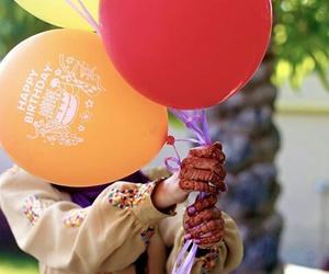 arab, baloons, and girl image