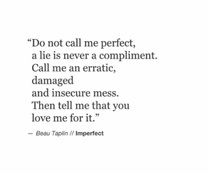 imperfect, love me, and beau taplin image