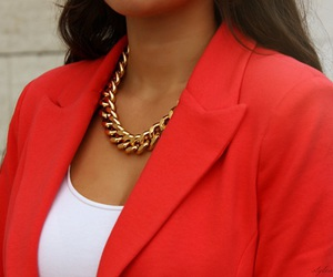 fashion, red, and necklace image