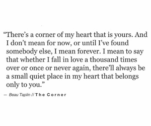 forever yours, beau taplin, and the corner image