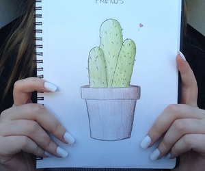 cactus, draw, and drawing image