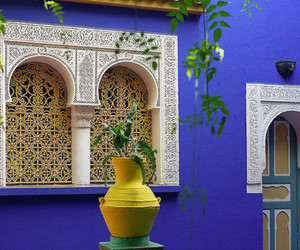 blue, colors, and morocco image