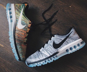 black and white, multicolor, and nike image