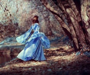 beautiful, fairytale, and blue image