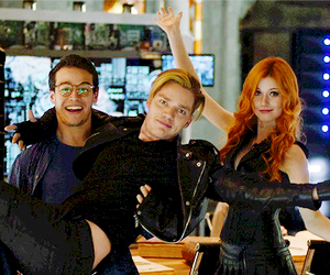 clary fray, simon lewis, and jace herondale image