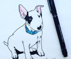 desenho, dog, and draw image