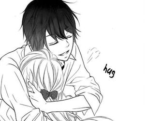 hug, love, and manga image