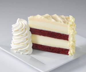 cheesecake, red velvet, and whipped cream image