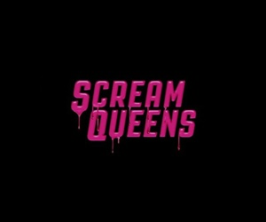 scream queens, black, and pink image