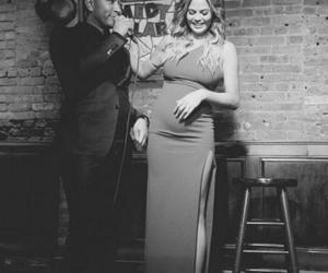 couple, pregnancy, and romantic image