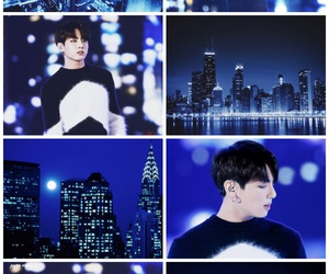 blue, city, and Collage image