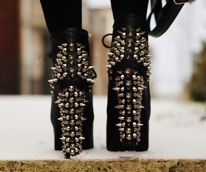 black, jeffrey campbell, and shoes image
