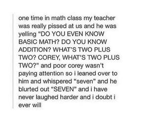 funny, math, and school image